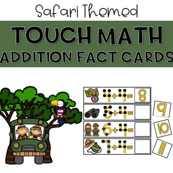 Touch Dot Addition Cards - Safari Themed