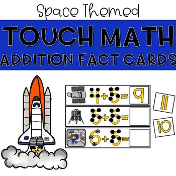 Touch Dot Addition Cards - Space Themed