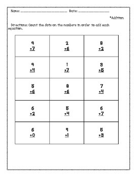 Touch Dot/Touch Math Addition Set 2