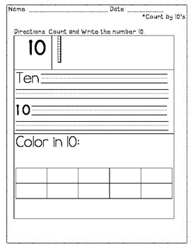 Touch Dot-Count by 10s freebie