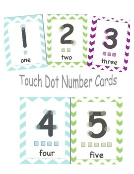 Touch Dot Number Cards 1-10