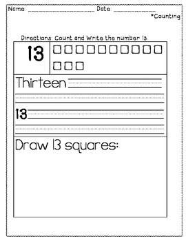 Touch Dot Numbers 11-20
