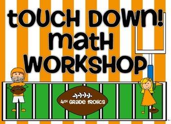 Touch Down!  Math Workshop Rotation Board