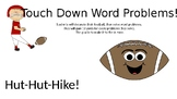 Touch Down Word Problems!