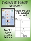 Touch & Hear sight word activity mats
