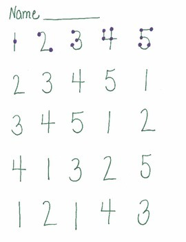Touch Math Addition 1's Worksheets