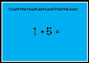 Touch Math Addition BOOM CARDS with Numbers 0 to 5 only