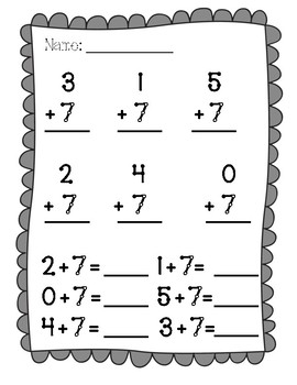 Touch Math Addition Facts 6-9