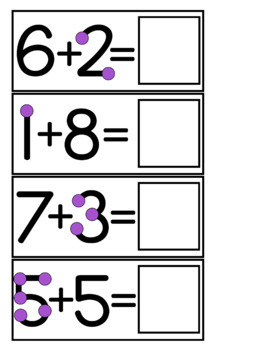 Touch Math Addition Task Cards