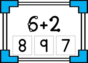 Touch Math Addition to 10 Interactive Task Cards (Boom Cards)