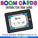 Touch Number Addition to 10 Interactive Digital Task Cards