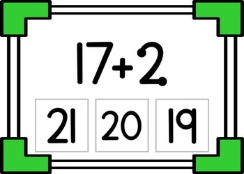 Touch Math Addition to 20 Interactive Task Cards (Boom Cards)