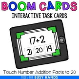 Touch Number Addition to 20 Interactive Digital Task Cards
