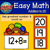 Touch Math Count On to Add to 20: BOOM CARDS