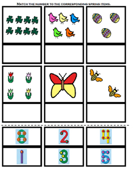 Touch Math: How Many Do You See In Spring?