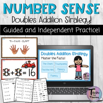 Doubles Addition Facts-Touch Points, Touch Math Inspired I