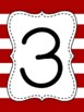 Touch Math Numbers {Crimson Thick Stripe}