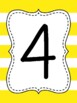 Touch Math Numbers {Yellow Thick Stripe}