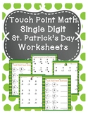 Touch Point Math St. Patrick's Day Worksheets