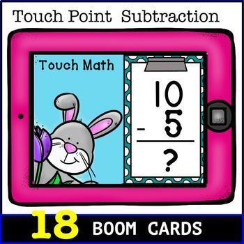 Touch Math Subtraction from BOOM CARDS
