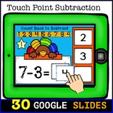 Touch Math Subtraction from 10: Digital Task Cards