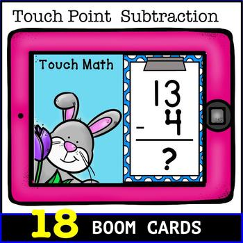 Touch Math Subtraction BOOM CARDS