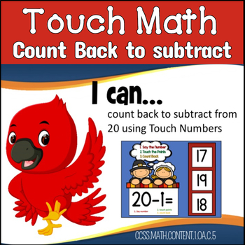 Touch Math Subtraction from 20: BOOM CARDS
