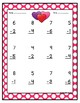 Touch Math Valentine's Day Worksheets