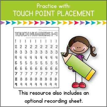 Touch Math in a Flash: Touch Point Placement {FREE Digital Practice}