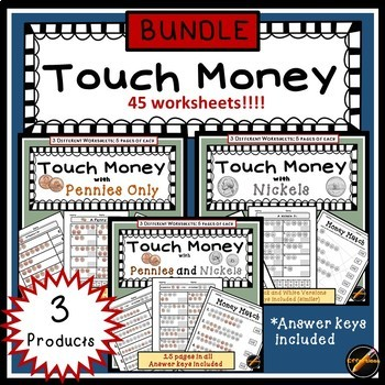 Touch Money Bundle: Pennies and Nickels
