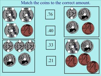 Touch-Money Counting Coins