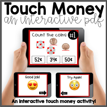 Touch Money- Interactive PDF Task Cards