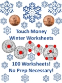 Touch Money *Snowflake Edition* Worksheets