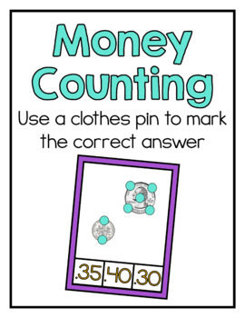 Money Task Cards With Points to Touch
