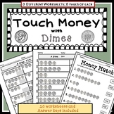 Touch Money Worksheets: DIMES ONLY