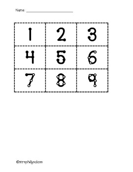 Touch Number Assessment