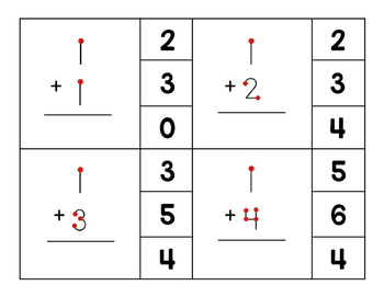 Touch Number Addition Clip-Its