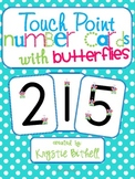 Number Cards with Butterflies 1-9 with Point and Press