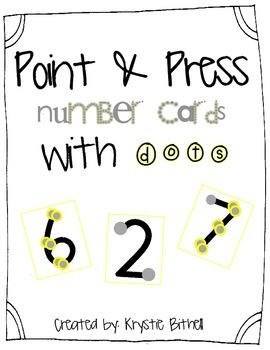 Number Posters with Dots 1-9 Extra Large Point and Press