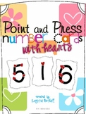 Number Cards with Hearts 1-9 Valentines Day Point and Press
