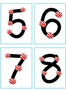 Christmas Math Number Cards