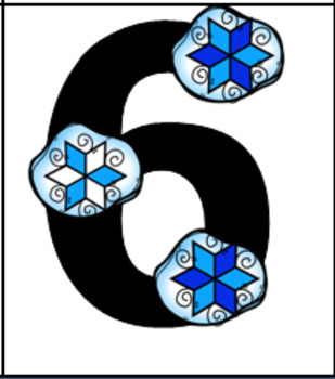 Touch Snowflakes Flash Cards
