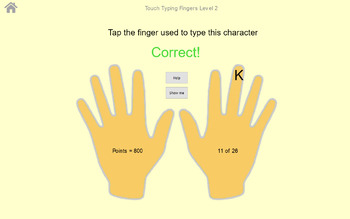 Touch Typing Fingers