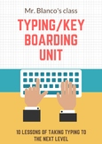 Touch Typing Keyboarding unit with teaching resources middle school