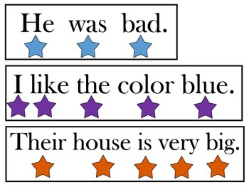 Touch and Read Sentence Strips