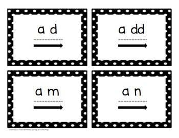 Touch and Say Cards (2-Phoneme Words)