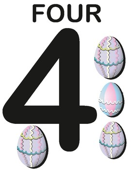 Touch numbers color egg pascua surprise count math kinder