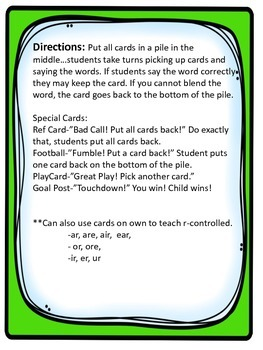 TouchDown! R-Controlled Card Game!