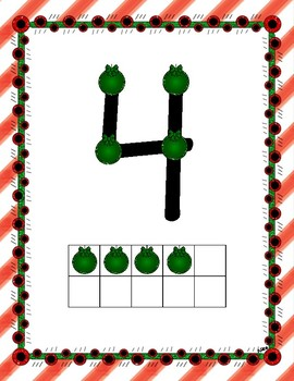 Touch Math Christmas Posters