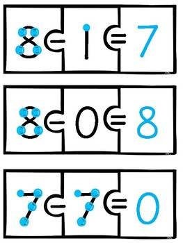 Touch Math Subtraction Puzzles (Facts 0-20)